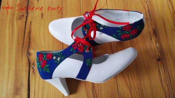 Ślubne buty z góralskim tybetem