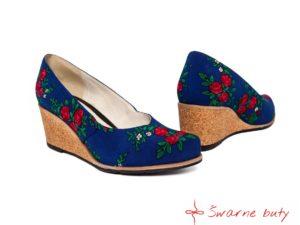 Buty z tybetu na korku - wygodne, góralskie buty na platformie z prawdziwego korka. Alternatywa dla niewygodnych szpilek. Odważ się wyróżnić w góralskim stylu.