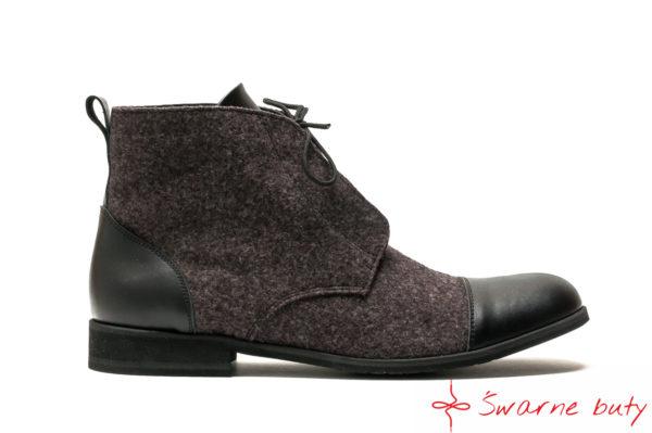 męskie góralskie buty z sukna