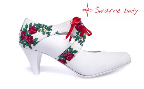 taneczne góralskie buty wiązane
