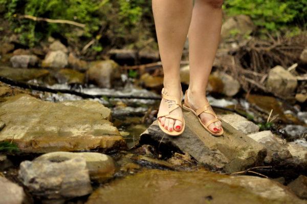 Letnie sandały ze skóry naturalnejLetnie sandały ze skóry naturalnej
