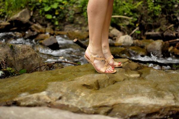 Letnie sandały ze skóry naturalnej